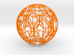 Lampshade(Designer Sphere 2) in Orange Processed Versatile Plastic