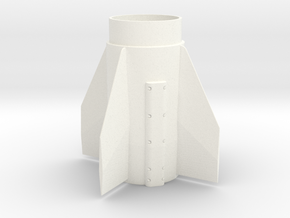 Patriot Missile 38mm Fin Unit for 29mm motors in White Processed Versatile Plastic