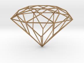 Diamond Brilliant Object in Polished Brass