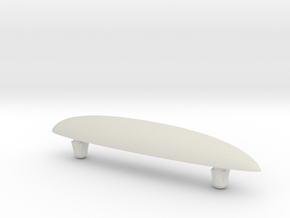 SkateFin (Beta) in White Natural Versatile Plastic