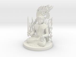 Fudo Myoo in White Natural Versatile Plastic