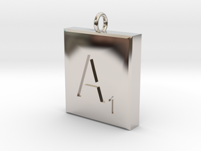 Scrabble Charm or Pendant-A in Platinum
