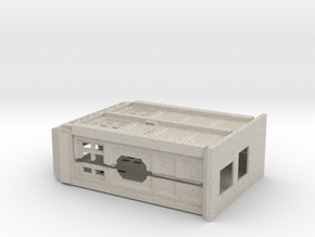Raspberry Pi case in the shape of a Police Box  in Natural Sandstone