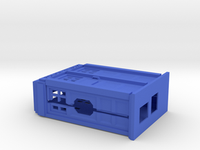 Raspberry Pi case in the shape of a Police Box  in Blue Processed Versatile Plastic