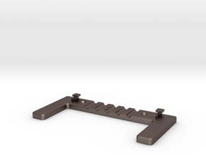 Wall Mount For ASUS Router - Vented in Polished Bronzed Silver Steel