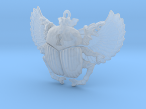 3D printed Winged Scarab in Smooth Fine Detail Plastic