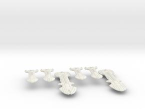 Rigellian (RPSA) Cruiser Squadron in White Natural Versatile Plastic
