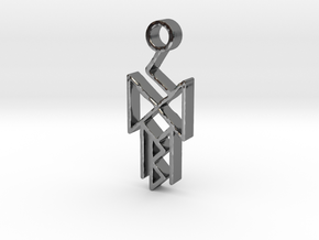 Runes of victory in Fine Detail Polished Silver