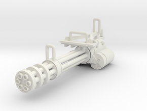 Gatling gun in White Natural Versatile Plastic