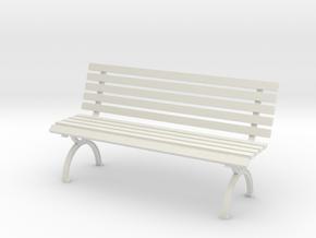 1:24 Park Bench in White Natural Versatile Plastic