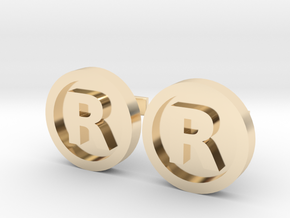 Registered Trademark Logo Cuff Links in 14K Yellow Gold