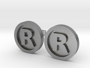 Registered Trademark Logo Cuff Links in Natural Silver
