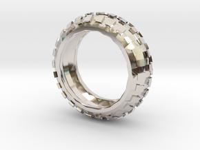 Motorcycle/Dirt Bike/Scrambler Tire Ring Size 9 in Platinum