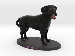 Custom Dog Figurine - Beebers in Full Color Sandstone