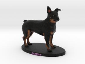 Custom Dog Figurine - Albert in Full Color Sandstone