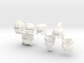 Robohelmets: The Extinct Cavalry in White Strong & Flexible Polished