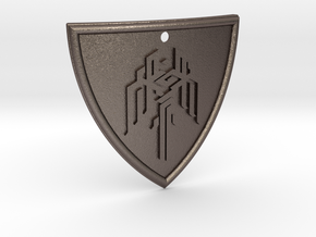 Dragon Age Shield in Polished Bronzed Silver Steel
