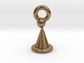 Santa Hat Ornament 2 in Natural Brass