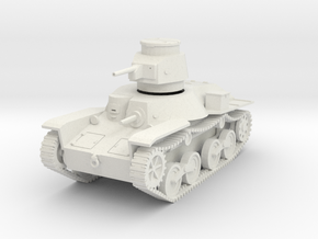 PV48A Type 95 Ha Go Light Tank (28mm) in White Natural Versatile Plastic