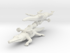 Rocket Crocodile from the World of Tomorrow in White Natural Versatile Plastic