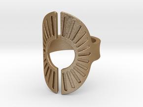 Sun Ring 17mm in Matte Gold Steel