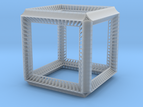 Cube Geometry perspectivity sculpture in Smooth Fine Detail Plastic