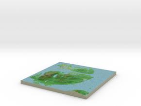 Terrafab generated model Mon Oct 06 2014 10:03:29  in Full Color Sandstone