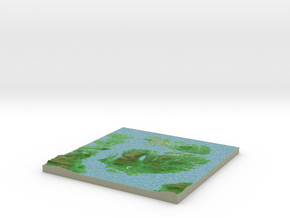 Terrafab generated model Tue Oct 28 2014 00:20:44  in Full Color Sandstone