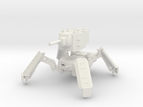 1/100 KV-2 spider tank in White Natural Versatile Plastic