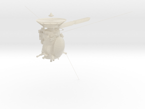 Cassini Solstices spacecraft in White Acrylic