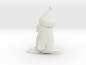 Christmas Penguin in White Natural Versatile Plastic