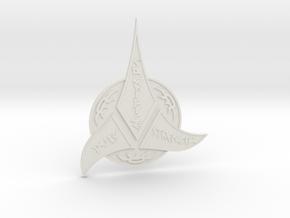 Klingon Insignia in White Natural Versatile Plastic