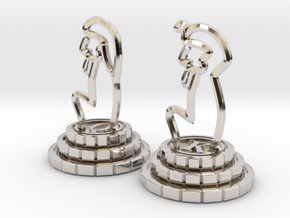 Chess set of Egypt(Q,K) in Platinum