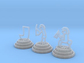 Chess set of Egypt(R,N,B) in Smooth Fine Detail Plastic