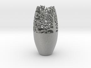 Decorative Tabletop Flower Vase  in Metallic Plastic