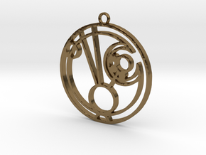 Maddie - Necklace in Polished Bronze