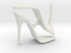 Women High Heel Base Two Shoes in White Natural Versatile Plastic