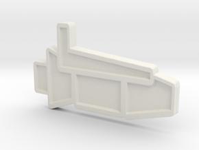 Ship #1 in White Natural Versatile Plastic