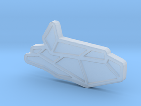 Ship #3 in Smooth Fine Detail Plastic
