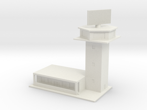 1/600 Control Tower And RADAR in White Strong & Flexible