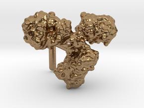 Antibody cufflink (surface) in Natural Brass