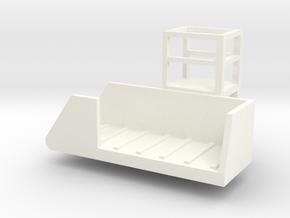 Vertical Mixer Conveyer in White Processed Versatile Plastic