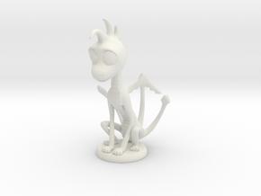 Creature - Thin Dragon in White Natural Versatile Plastic