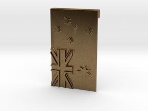 Australian Flag Belt Buckle in Natural Bronze