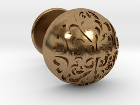 Button Cuff in Natural Brass