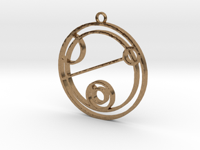 Keith - Necklace in Natural Brass