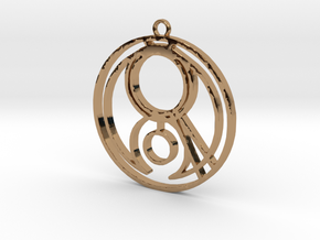 Gemma - Necklace in Polished Brass