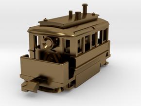 1001-3 Early Baldwin Steam Tram (Type B) 1:148 in Polished Bronze