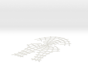 Spider-Man Face Webbing (fits kenlandrum print) in White Natural Versatile Plastic