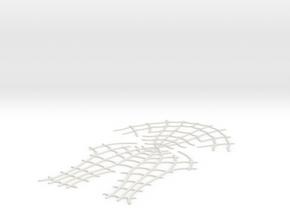 Spider-Man Face Webbing (fits kenlandrum print) in White Natural Versatile Plastic